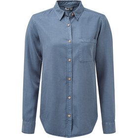 tentree Fernie Button-Up LS Shirt Dame spruce blue